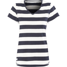 Bergans Bastøy T-shirt Femme, white/navy striped
